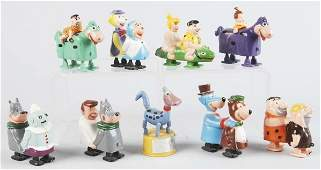 819: Lot of 9: Plastic Character Ramp Walker Toys.
