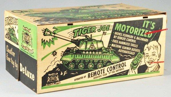 863: DeLuxe Reading Tiger Joe Tank Battery-Op Toy.