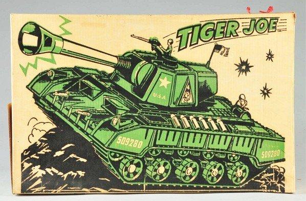 863: DeLuxe Reading Tiger Joe Tank Battery-Op Toy. - 2