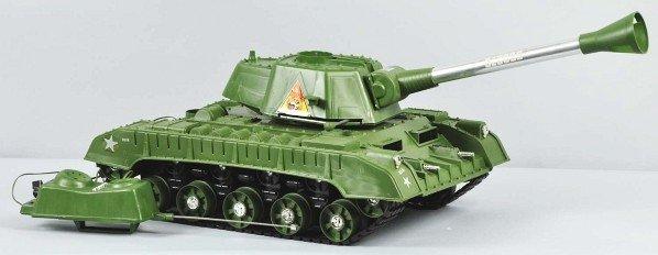 863: DeLuxe Reading Tiger Joe Tank Battery-Op Toy. - 3