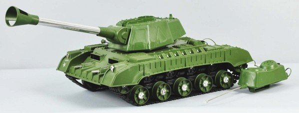 863: DeLuxe Reading Tiger Joe Tank Battery-Op Toy. - 4