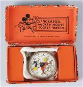 888 Ingersoll Walt Disney Mickey Mouse Pocket Watch