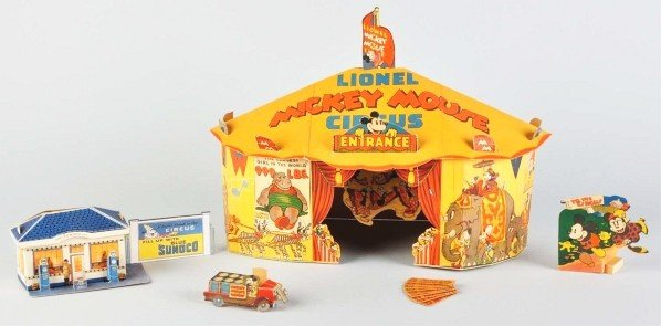 901: Tin Lionel Disney Mickey Circus Train Wind-Up Toy