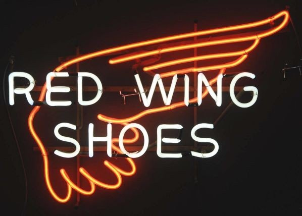 1224: Red Wing Shoes Neon Sign.