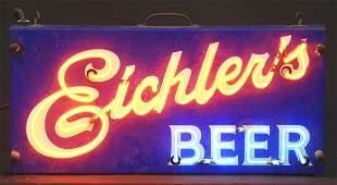 1335: Eichler's Beer Porcelain Neon Sign.