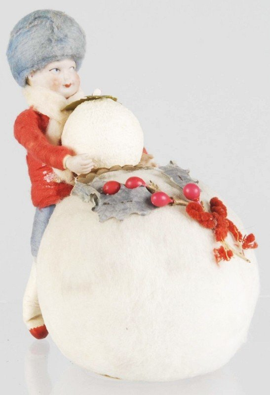 1: Heubach Child on Snowball Candy Container.
