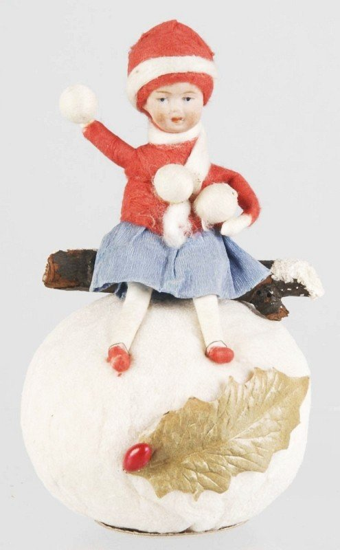 2: Heubach Girl on Snowball Candy Container.