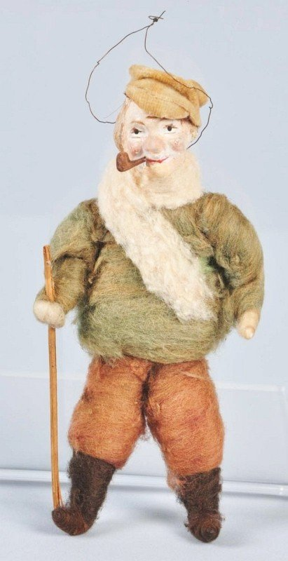 5: Cotton Man with Pipe Christmas Ornament.