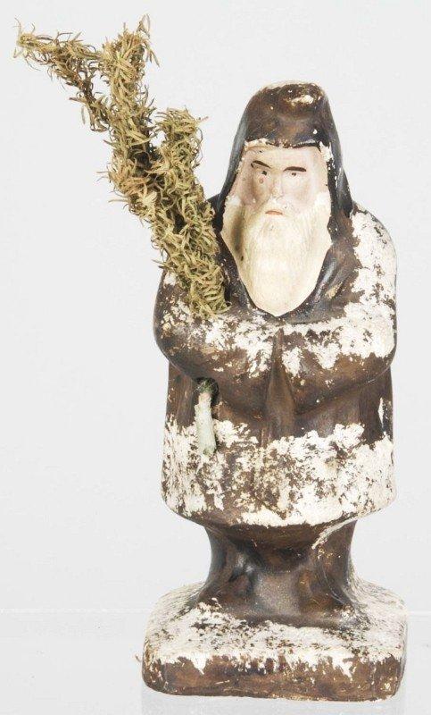 9: Belsnickel Chalkware Santa.