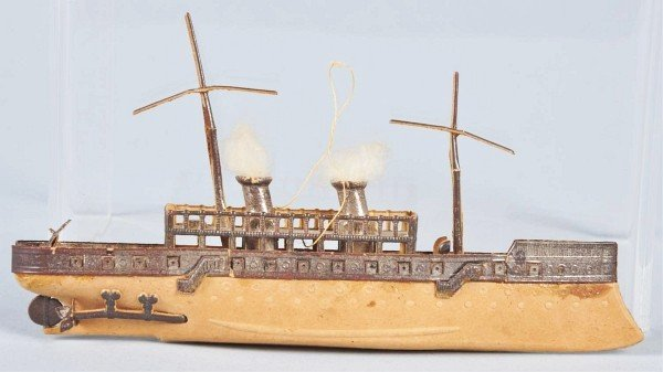 65: Rare Dresden Ocean Freight Ship Ornament.