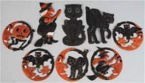 343 Lot of 8 Cardboard Halloween DieCuts