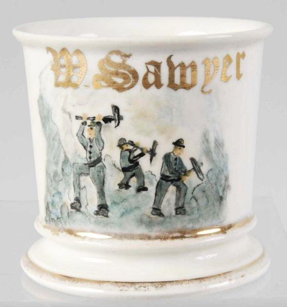 2: Miners Scene Shaving Mug.
