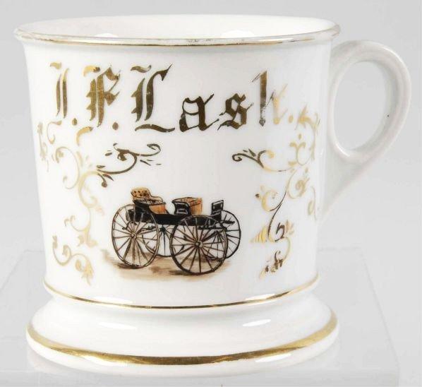 7: Carriage Maker Shaving Mug.