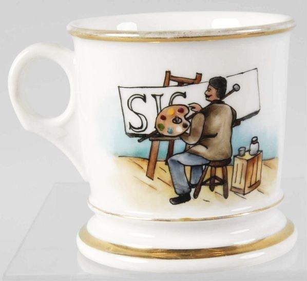 23: Sign Painter's Shaving Mug.