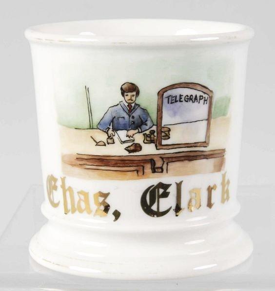 24: Telegraph Office Shaving Mug.