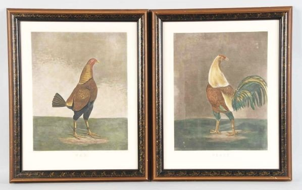 232: Lot of 2: War & Peace Rooster Prints.