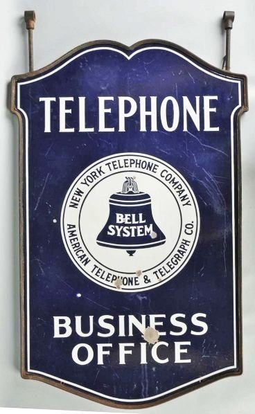 613: Porcelain Bell Telephone Business Office Sign.