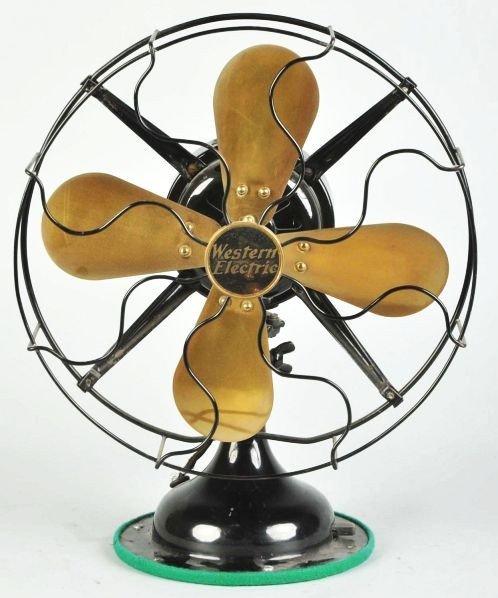 614: Early Black Western Electric Table Fan.
