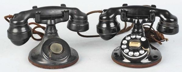 615: Lot of 2: Western Electric 102 Cradle Telephones.