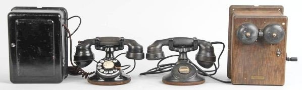 619: Lot of 2: Western Electric B1 Cradle Telephones.