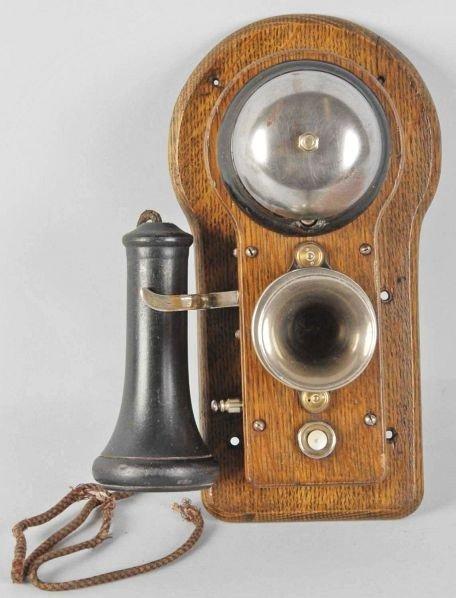 629: Oak Ericsson Wall Telephone.