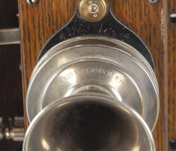 629: Oak Ericsson Wall Telephone. - 3