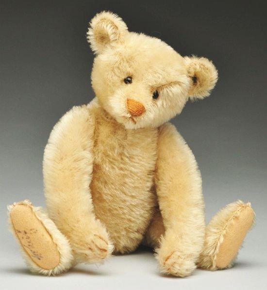 4: White Steiff Bear.