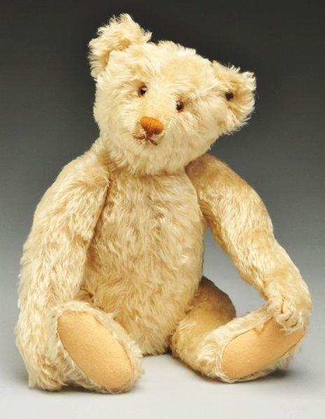 10: White Steiff Bear.