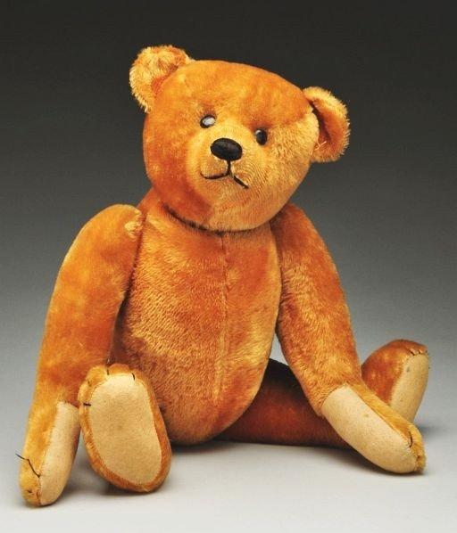 13: Early American Golden Mohair Bear.