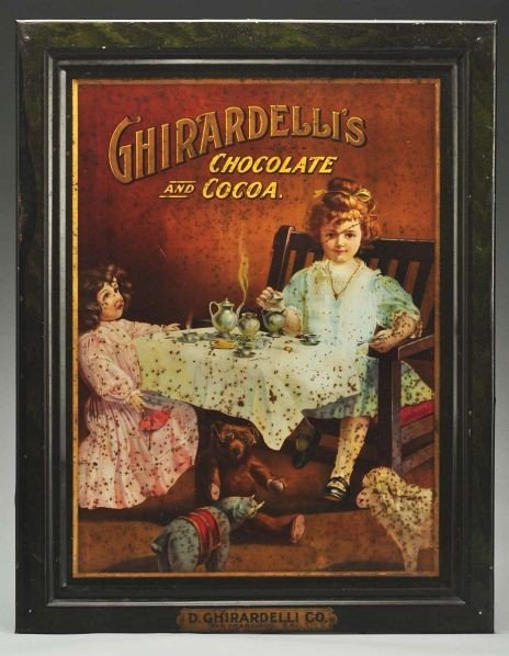 17: Tin Ghirardelli's Chocolate Advertising Sign.