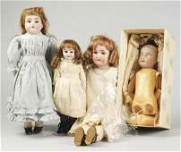 382 Lot of 4 German Bisque Child Dolls