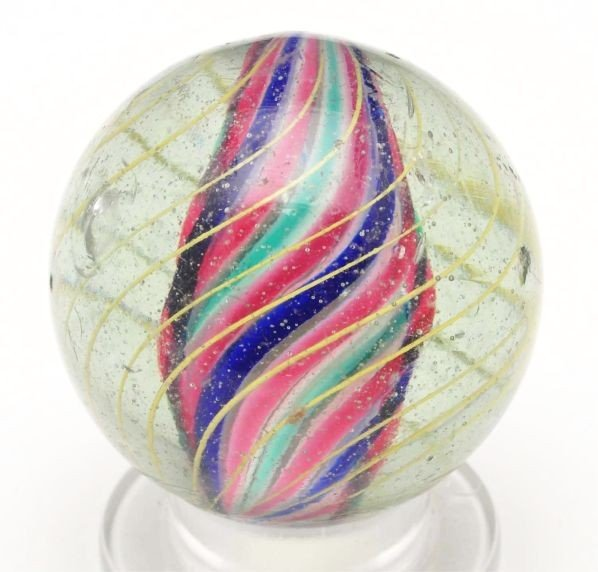1: Solid Core Swirl Marble.