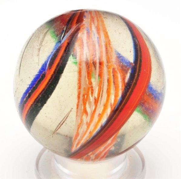 7: Bicolor Latticino Swirl Marble.