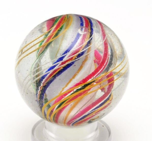 8: Rare 3-Stage Ridge Core Swirl Marble.