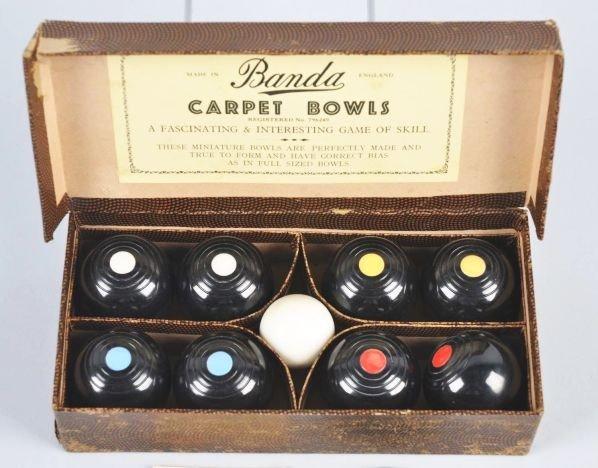 346: Vintage Banda Carpet Bowls Set in Original Box. - 2