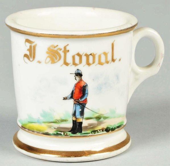 16: Horse Jockey Shaving Mug.