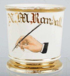 Notary/Writer Shaving Mug.