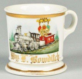 Early Locomotive Shaving Mug.