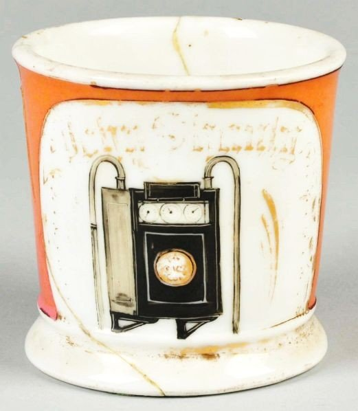 83: Black Gas Meter Shaving Mug.