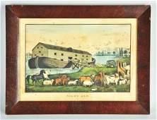 249: Currier & Ives Noah's Ark Print.