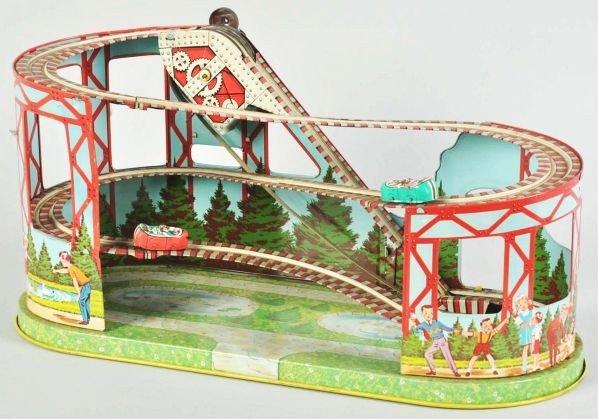 475: Tin Litho Chein Roller Coaster Toy.