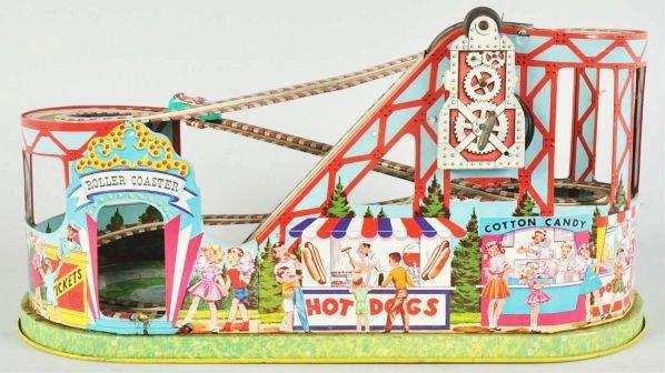 475: Tin Litho Chein Roller Coaster Toy. - 2