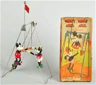 512: Celluloid Disney Mickey & Minnie Acrobat Toys.