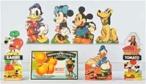 533: Lot of 8: Walt Disney Comic Character Items.