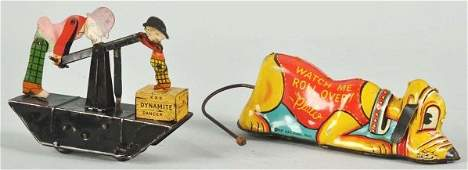 551 Lot of 2 Tin Litho Marx Character WindUp Toys