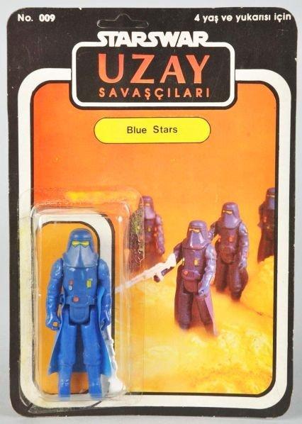 704: Star Wars Uzay Blue Stars Carded Figure.
