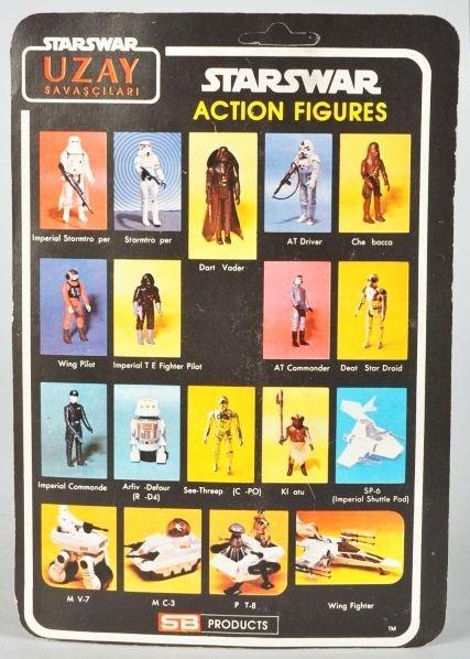 704: Star Wars Uzay Blue Stars Carded Figure. - 2