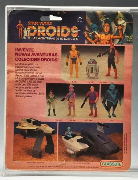 711: Star Wars Droids Vlix Carded Figure. - 2