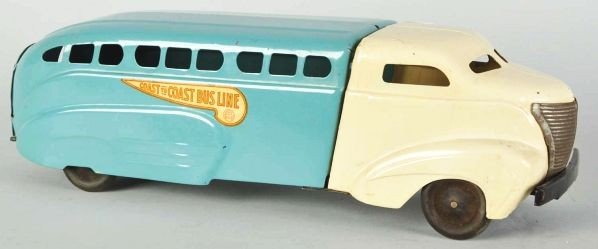 796: Pressed Steel Wyandotte Coast to Coast Bus Toy.