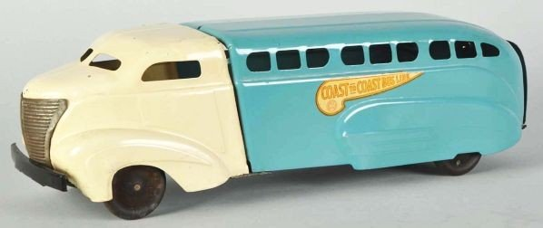 796: Pressed Steel Wyandotte Coast to Coast Bus Toy. - 2